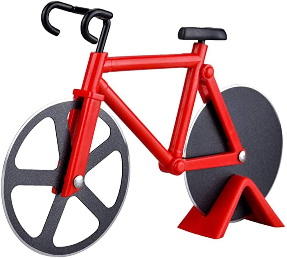 Compra WJLED Bicicleta Rueda Cortador Pizza Antiadherente Doble Corte Acero Inoxidable Ruedas Bicicleta Pizza ...