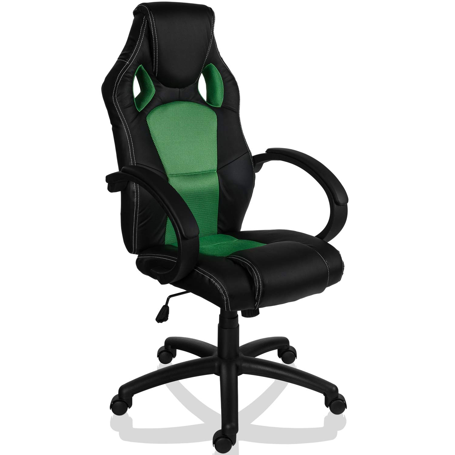 Maxstore RACEMASTER® Racing Bürostuhl GS Series Gaming Chair Gamer Stuhl in 20 Varianten Drehstuhl Gaslift SGS Geprüft Schreibtischstuhl Wippmechanik Grün