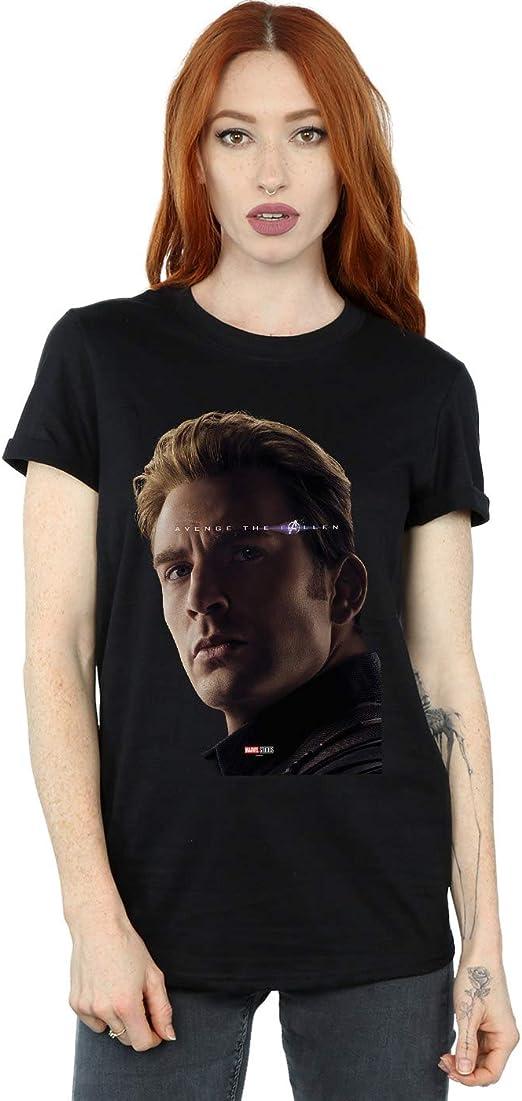Marvel Femme Avengers Endgame Avenge The Fallen Captain America Petit Ami Fit T Shirt