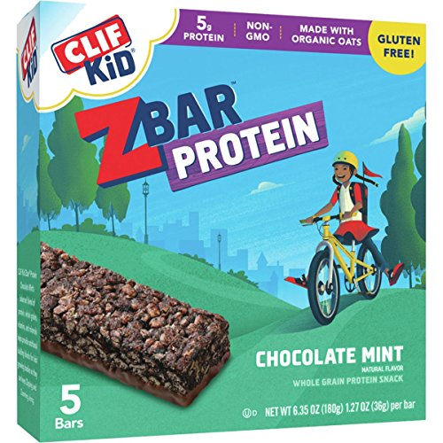 - Clifbar ZBar Protein - 5-Pack Chocolate Mint, One Size