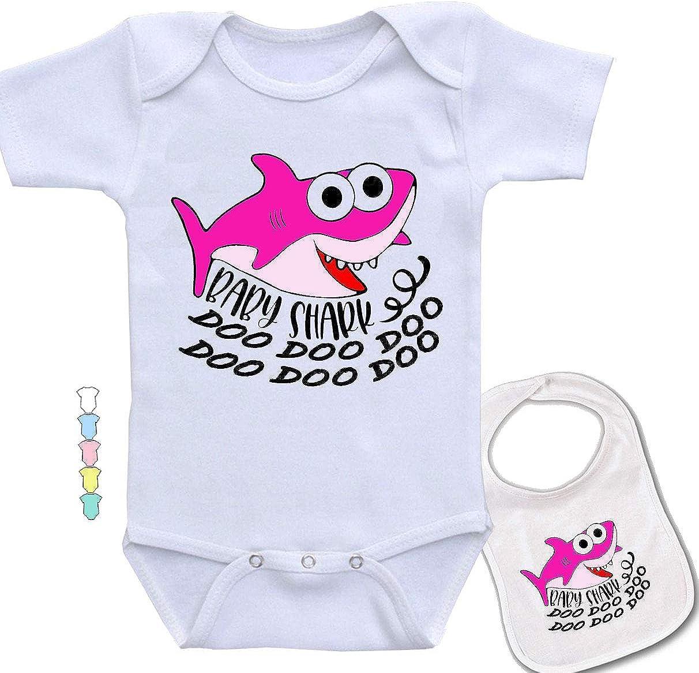 Baby Shark Doo. -Cute YouTube Video Novelty Onesie Baby Bodysuit & bib Set
