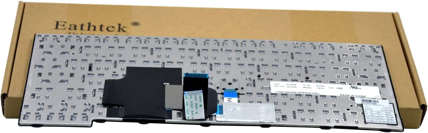 US Layout Non-backlit Laptop Keyboard for Lenovo ThinkPad T431 T431s T440 T440E T440p T440s T450 L440 E431 E440 Compatible With 0C45328 04Y2763 PK130X72A00
