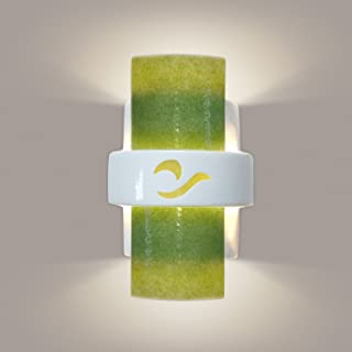 product image for ReFusion South Beach 1 Light Wall Sconce Finish: White Gloss and Lime