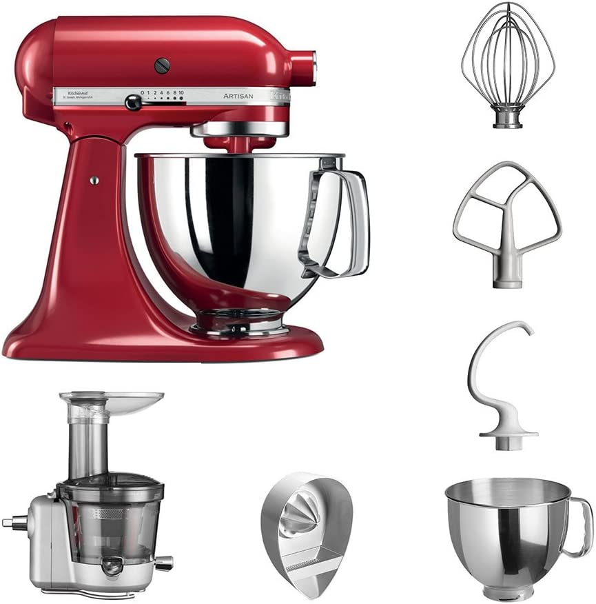 KitchenAid Robot de cocina fop Conjunto | Artisan 5 ksm125ps ...