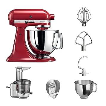 KitchenAid Robot de cocina fop Conjunto   Artisan 5 ksm125ps Licuadora del paquete  , incluye Licuadora vorsatz, Exprimidor y accesorios estándar Empire ...