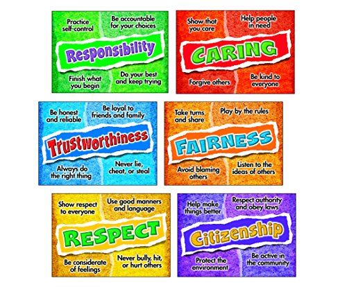 Trend Enterprises Poster Combo Pack, Character Choices (Trustworthiness Poster)