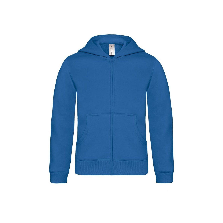 B&C Childrens/Kids Plain Full Zip Hoodie Jacket (5-6 Years) (Royal Blue)