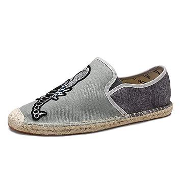 Fuxitoggo Zapatillas sin Cordones Transpirables Ocasionales sin Cordones para Hombre (Color : Gris, tamaño : EU 44): Amazon.es: Hogar