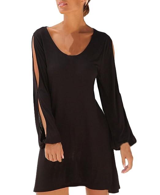big sale 65e67 a344a Lannister Fashion sommerKleid Damen Elegant Kleider Kurz ...