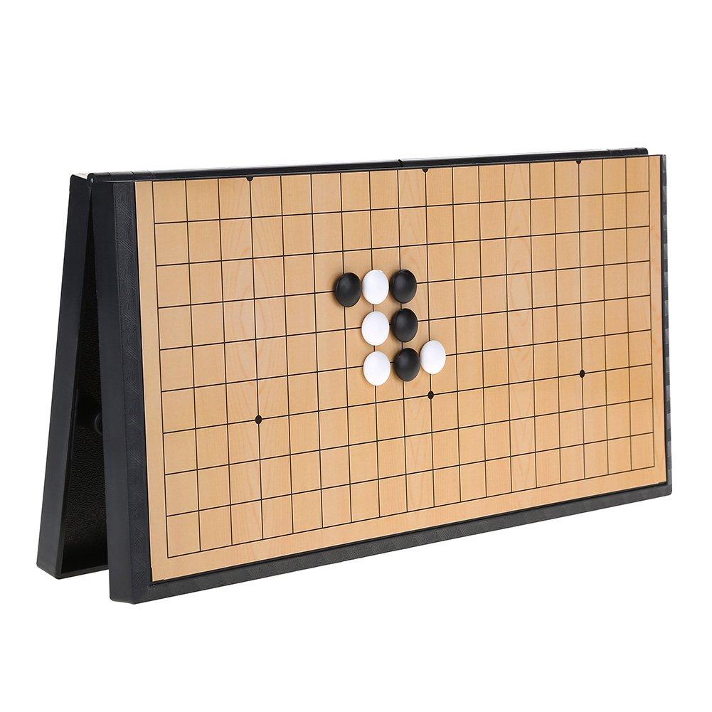 Go Game Set Weiqi Jeu de plateau d/échecs pliable magn/étique pour les enfants jeux /éducatifs traditionnels chinois