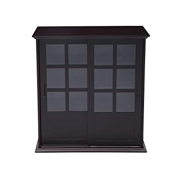 Amazon Nb Liner Wood Curio Cabinet With Glass Sliding Doors