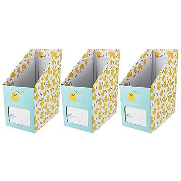 Andux Archivador/revistero de papel corrugado Revistero ZDSNH-01 (Amarillo): Amazon.es: Oficina y papelería