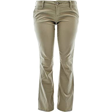 Amazon.com: Zanadi - Women's Straight Twill Pants - Khaki: Clothing