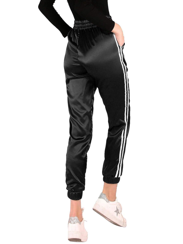 e1a996371e SweatyRocks Women's Drawstring Waist Striped Side Jogger Sweatpants with  Pockets