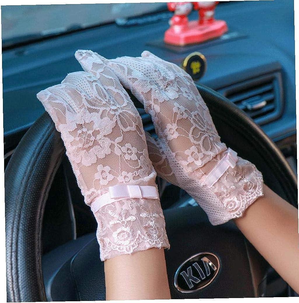Female Summer Lace Handschuhe Sun Uv-schutz Thin Driving Handschuhe Mit Anti-rutsch-touch-screen-finger F/ür Damen