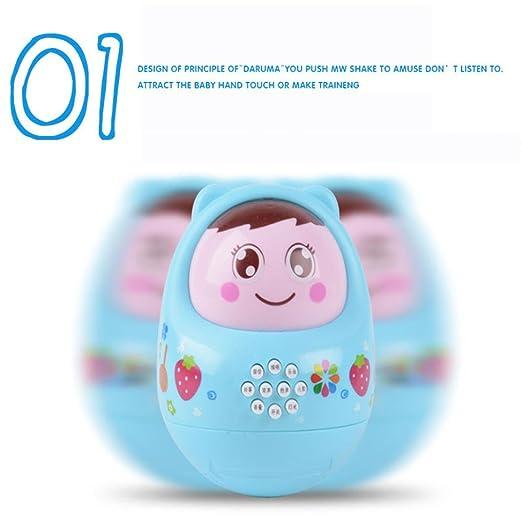 jouets /éducatifs Longra Jouets musicaux Culbuto B/éb/é Education Puzzle Toys Plus de 6 mois b/éb/é roly poly 9 * 12cm, Bleu