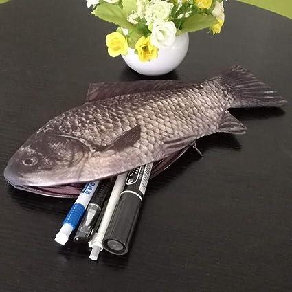 UWOP - Estuche para lápices, diseño de pez, color 4: Amazon.es: Oficina y papelería