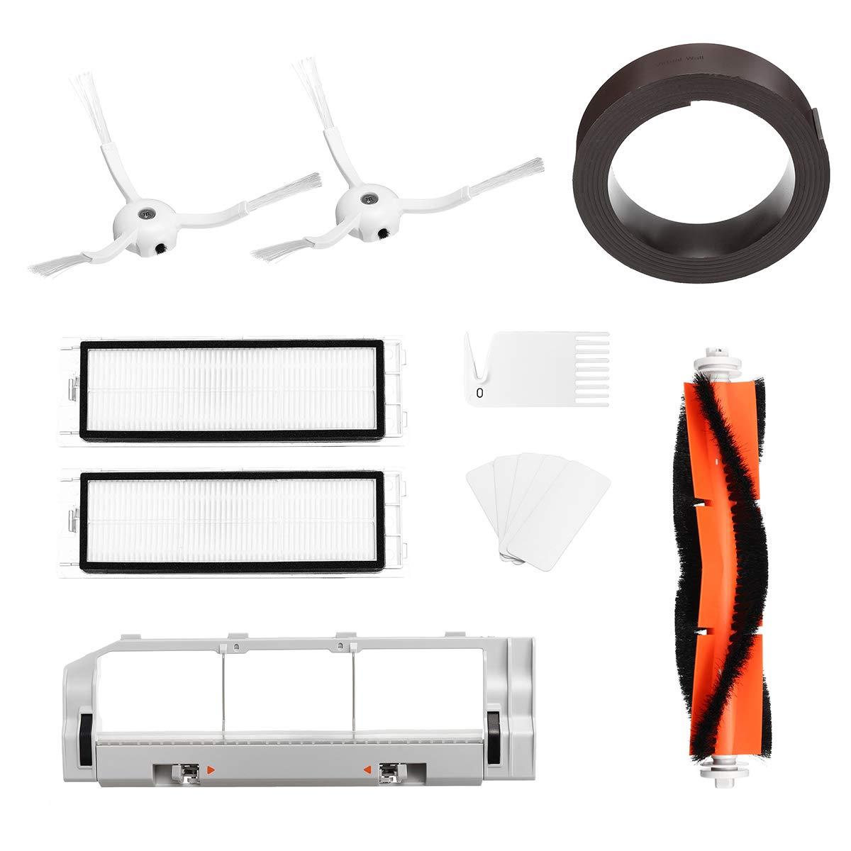 ChaRLes 5 Pcs Set Ersatz XIAOMI MI Robot Vakuum Cleaner HEPA Filter Cotton Side Brush Main Brush