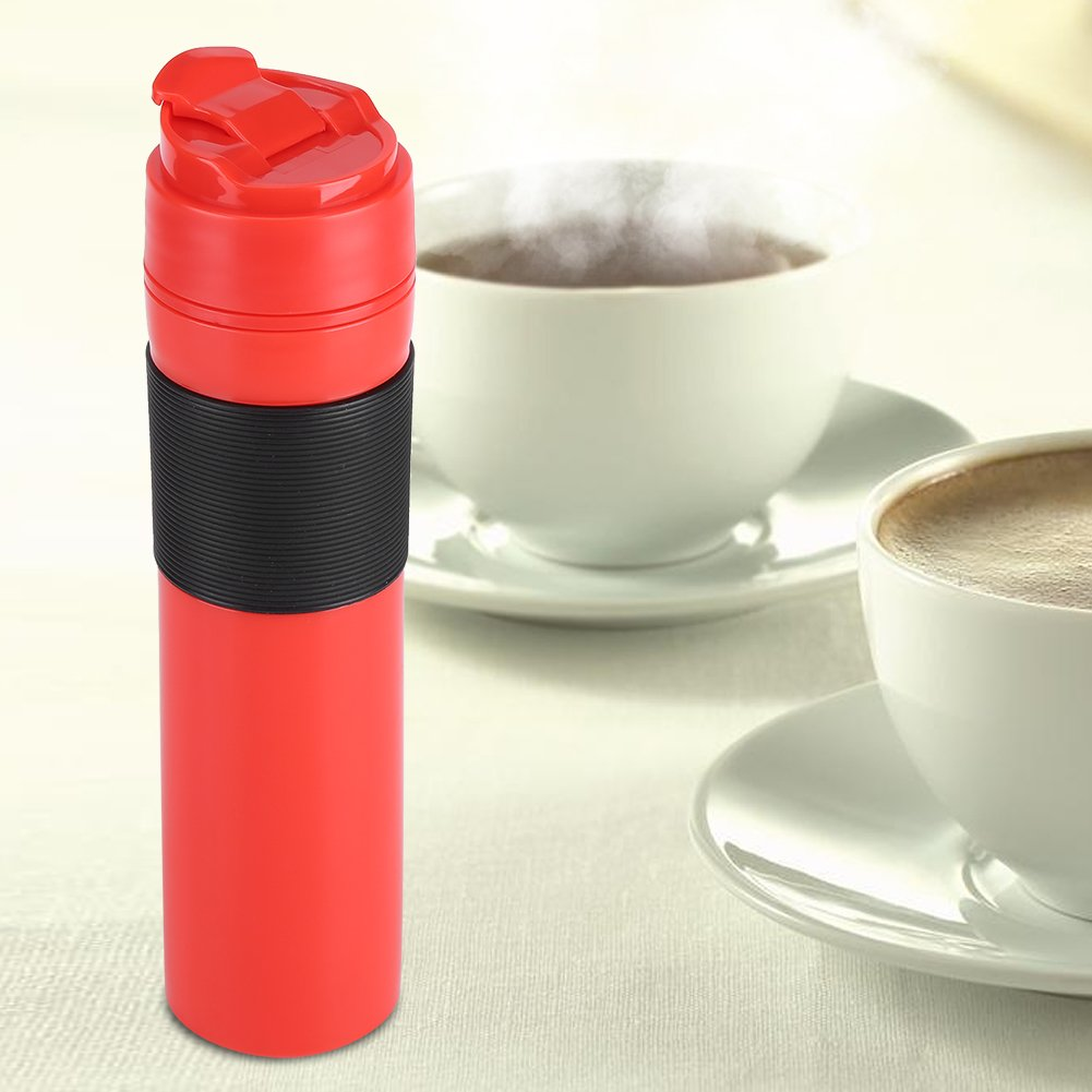 Amazon.com: 350ml Portable Coffee Press Bottle Tea Coffee Maker Drinking Water Cup for Travelling(red): Kitchen & Dining