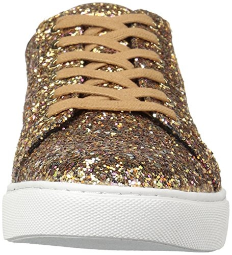 Kenneth Cole New York Donna Kam Tecnica-cole Lace Up Glitter Fashion Sneaker Bronzo