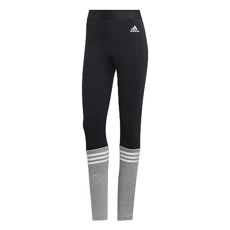 9c52278f9e604f Amazon.com   adidas Sport ID Logo Tights - Womens - Black - M   Sports    Outdoors