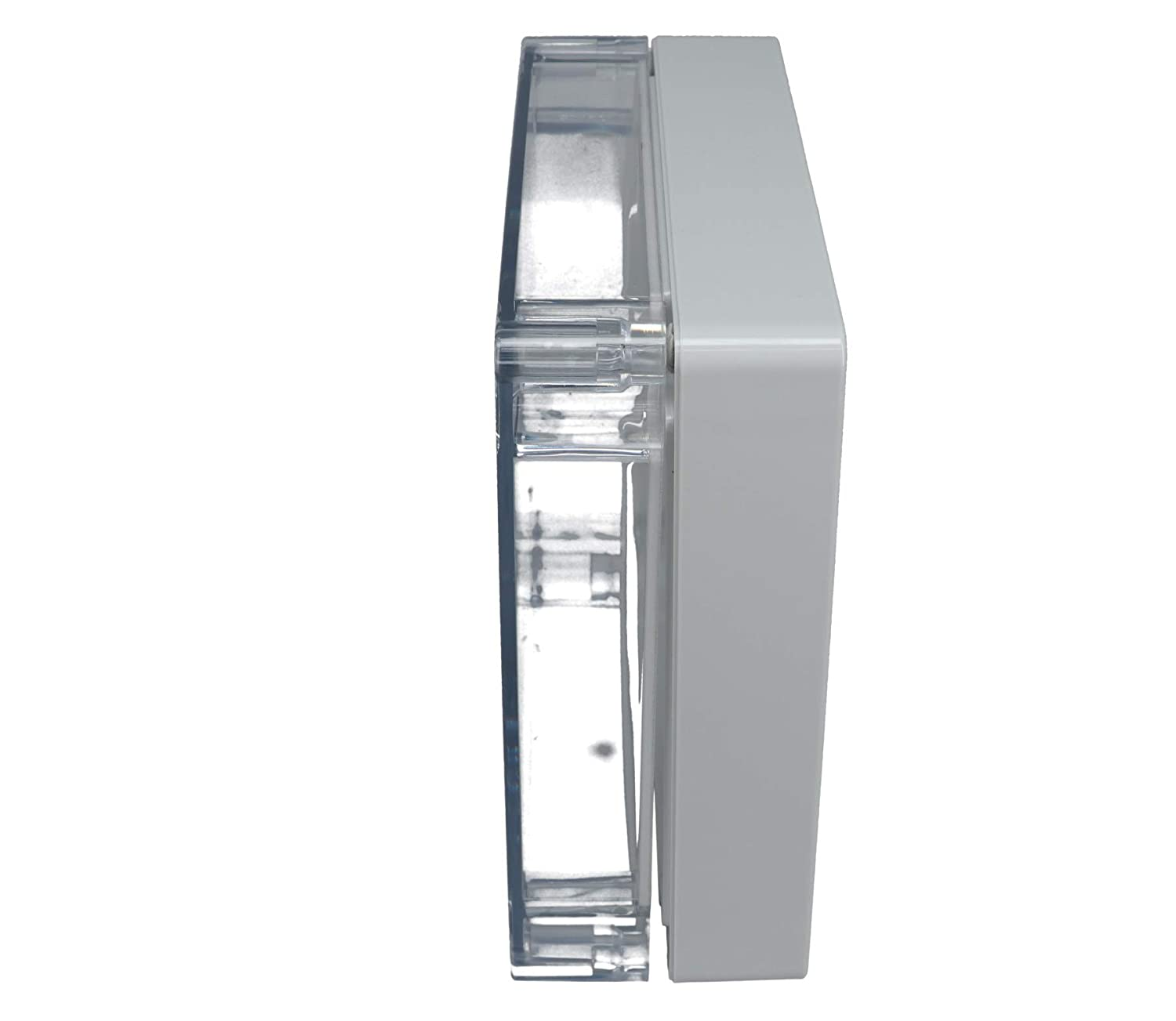 Light Gray Finish BUD Industries PN-1338-C Polycarbonate NEMA 4X Box with Clear Cover 6-19//64 Length x 6-19//64 Width x 2-23//64 Height