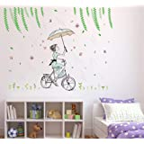 Solimo Wall Sticker for Living Room (It's a Good Day to Ride, Ideal Size on Wall - 120 cm x 92 cm)