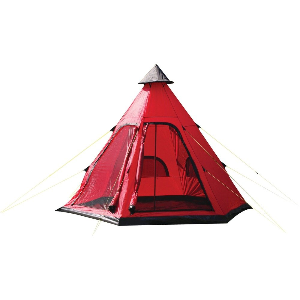 sc 1 st  Amazon.com & Amazon.com : YELLOWSTONE Festival 4 Tipi Tent Red : Sports u0026 Outdoors
