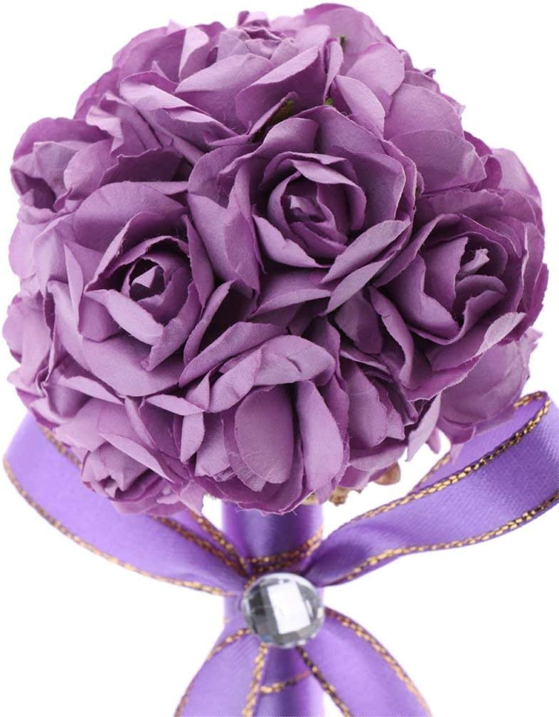 Wedding Signing Pen Flower Ball Shape Ball Pen for Wedding Engagement Anniversary Propose Marriage Holiday Gift Purple
