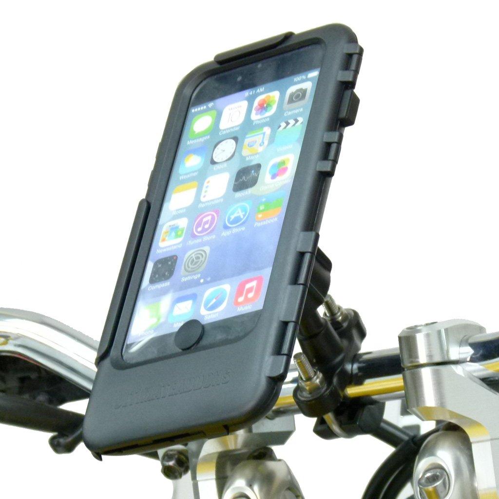 防水メタルUボルトオートバイバイクハンドルバータフケースマウントバンドルfor iPhone 6 Plus B00Y2W3VTE