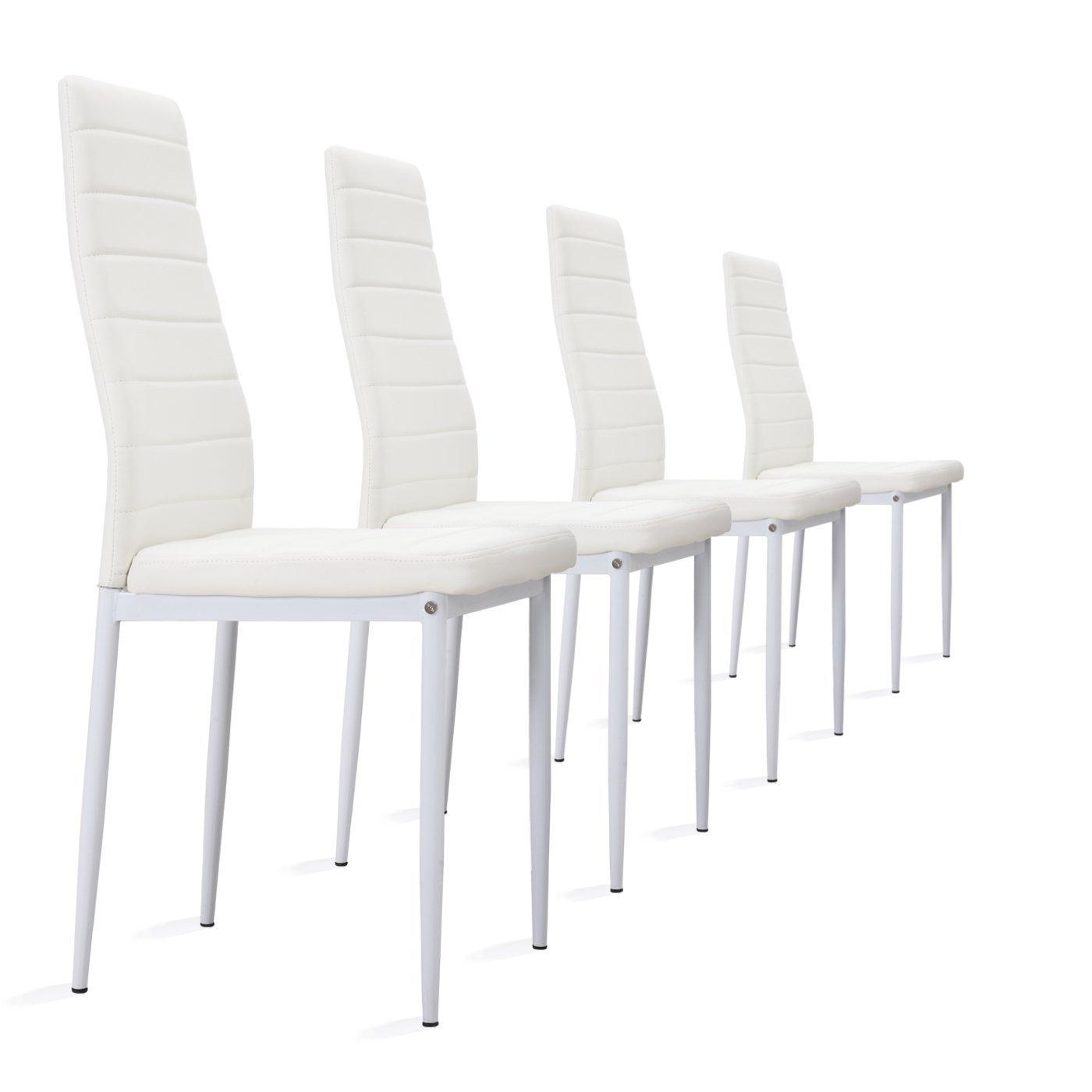 Inspirierend Weisse Stühle Dekoration Von I-flair 4 Stück Weiße Stühle Esszimmerstühle, Küchenstühle