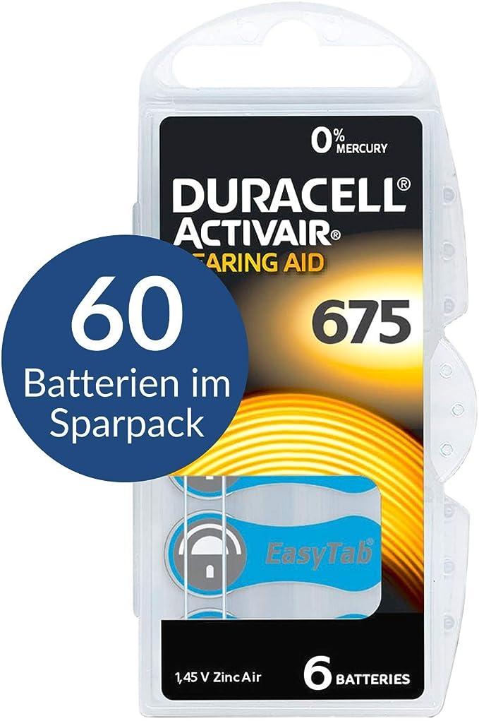 60 Duracell Activair Batterien Hearing Aid Gr 675 Elektronik