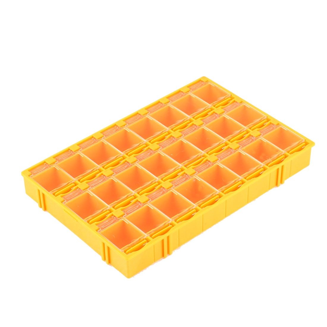 Uxcell a16010300ux0102 Plastic 24 Compartments Electronic Components Storage Box Case