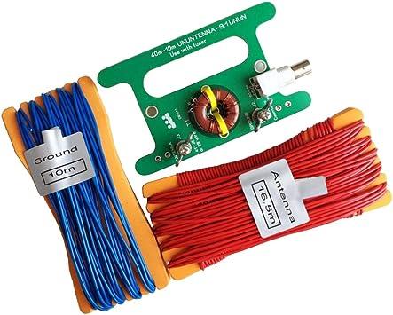 perfeclan Diminuto Bajo Costo 9: 1 Balun Largo Cable HF Antena RTL-SDR
