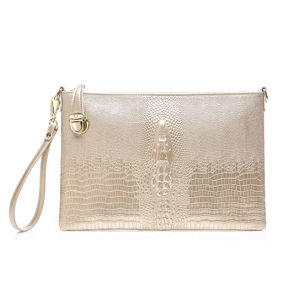 Women Clutches Evening Bags Women Elegant Soft Leather Ultra-thin Clutches Bag Prom Evening Handbag Party Clutch Purse Shoulder Bags Cross Body Bag Bridal Wedding Bag Clutch Purse Color : Gold