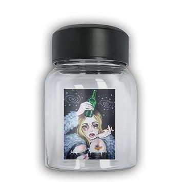 irloskie personalizado cristal bebidas botellas fangbanger Gotik gótico mujer niña arte reutilizable 1 unidades