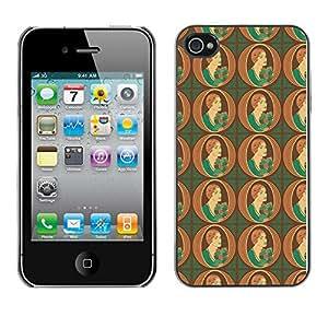 ZECASE Funda Carcasa Tapa Case Cover Para Apple iPhone 4 / 4S No.0002615