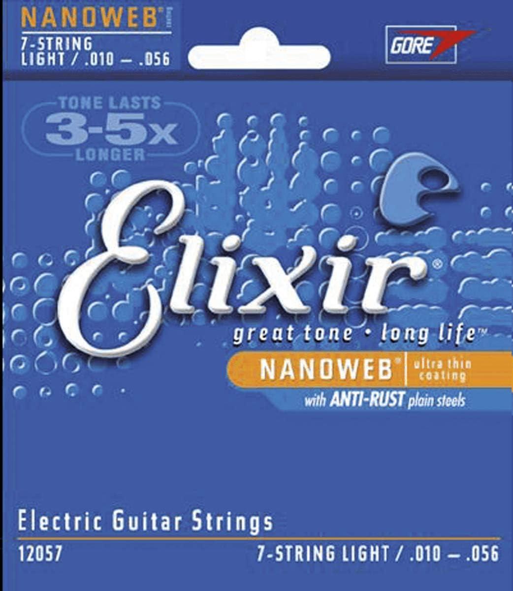Elixir 12057 - Juego de cuerdas para guitarra eléctrica, .010 - 0.056