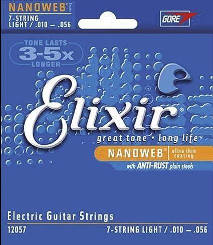 Elixir 12057 - Juego de cuerdas para guitarra eléctrica, .010 ...