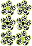 zebra decor for kitchen - Lime Green and Zebra Print Flower Wall Decals Stickers