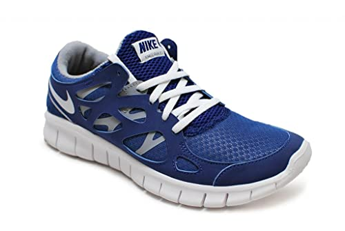 b3f2e9642877 NIKE Damen Free Run + 2 EXT – 536746410 – Royal Blau Weiß Grau, Royal