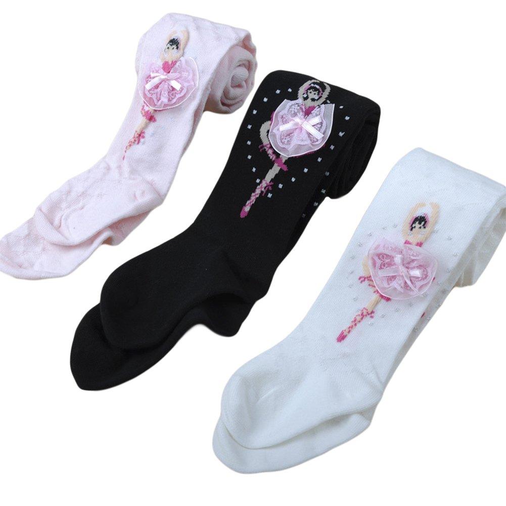 Taiycyxgan Girls Cotton Leggings 1-10T Ballet Tights Stocking Panties Socks 3 Pack 7-10 Years