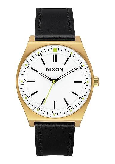 Nixon Reloj Analogico para Mujer de Cuarzo con Correa en Cuero A1188-2769-00: Amazon.es: Relojes