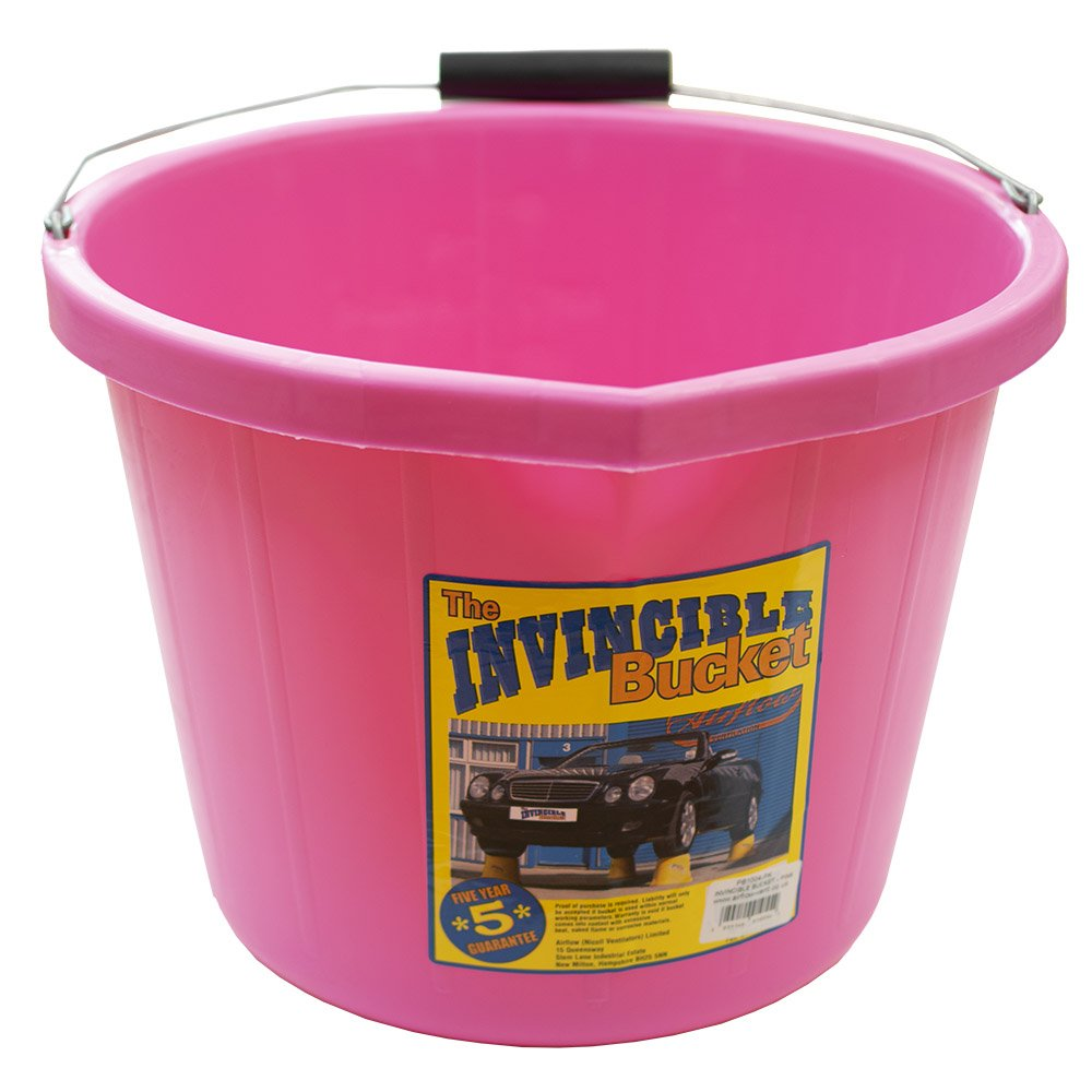 Airflow Heavy Duty Invincible Builders Bucket Pink 3 Gallon 15 Litre