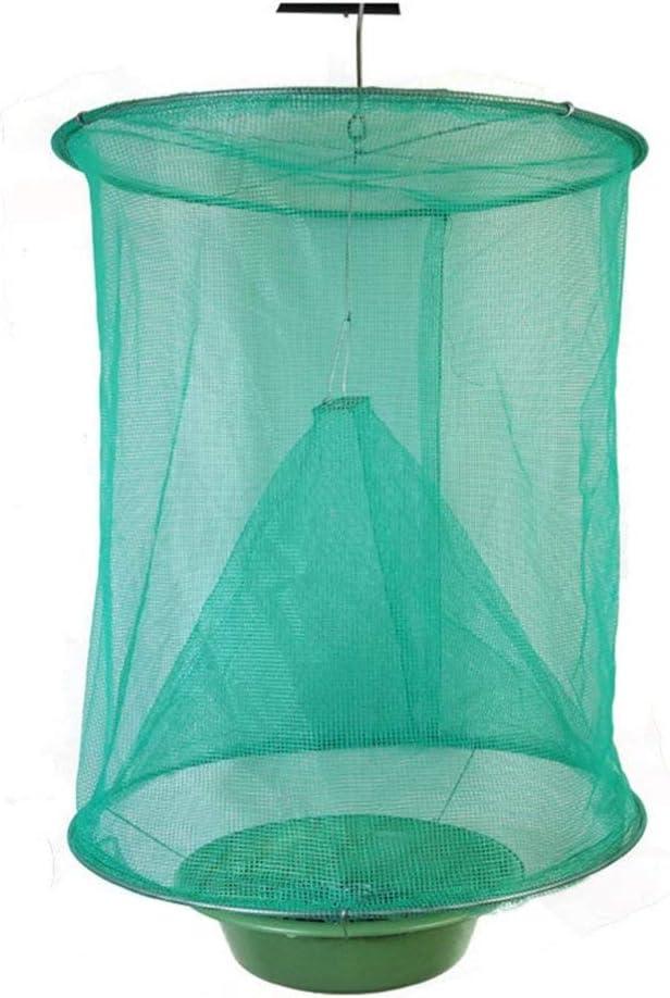 Queenaal The Ranch Fly Trap Outdoor Fly Trap Killer Bug Cage Net Caballos (Verde)