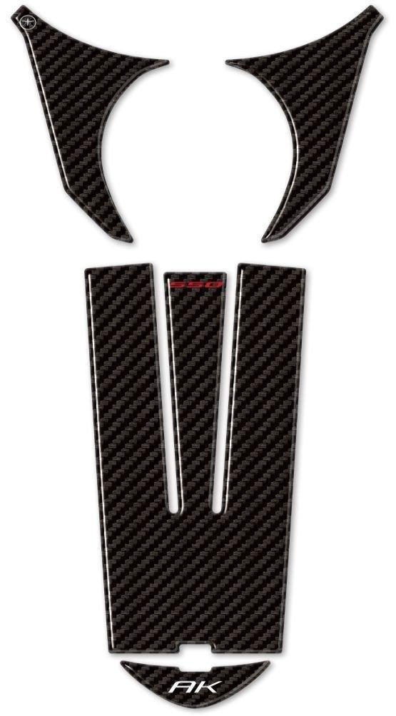 Aufkleber Gel 3d Schutz Bereich Z/ündung Kompatibel f/ür Roller Kymco Ak 550