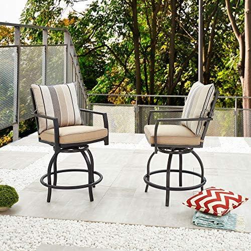 LOKATSE HOME Patio Bar Height Chairs
