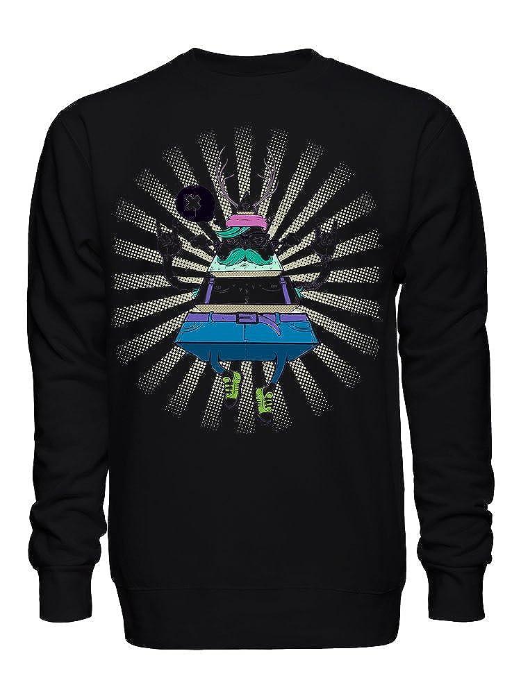graphke Personalized Triangle Sliced Illuminati Rock Tribute Unisex Crew Neck Sweatshirt