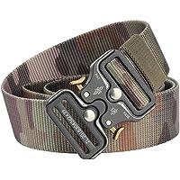 Men's Outdoor Strategical Nylon Belt Quick Release Adjustable Double Slot Belt for Man Outdoor Tactical Nylon Belt Elastic Freely Adjustable 2018