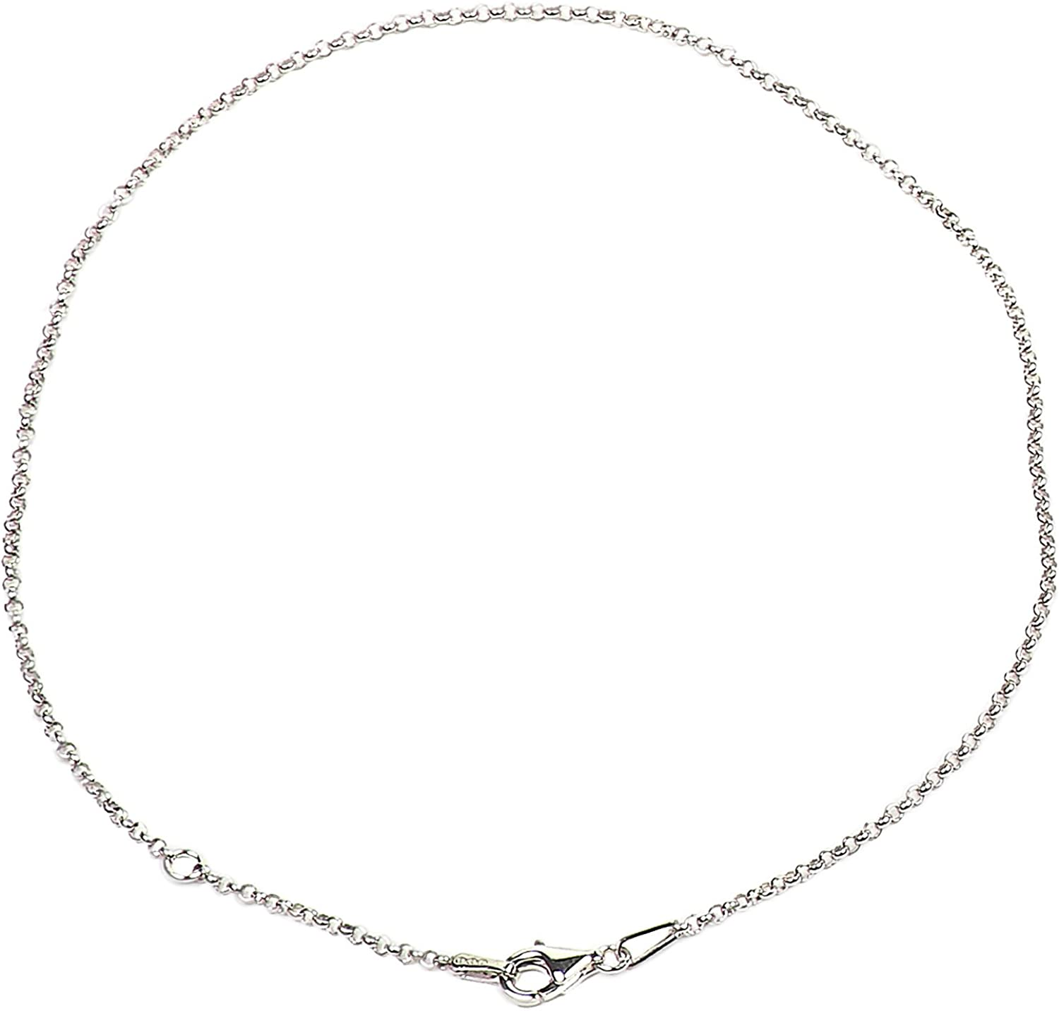 """MADE IN ITALY 925 sterling silver 3mm Thin BELCHER CHAIN NECKLACE 16/""""-36/"""" UNISEX"""